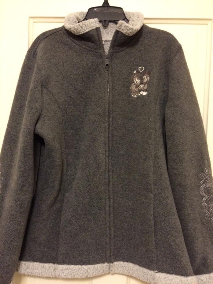 Disneyland resorts grey zip up jacket, m