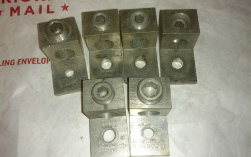 LOT OF 6  Burndy KA34-U 500 Aluminum Mechanical Lug Connector, AL9CU
