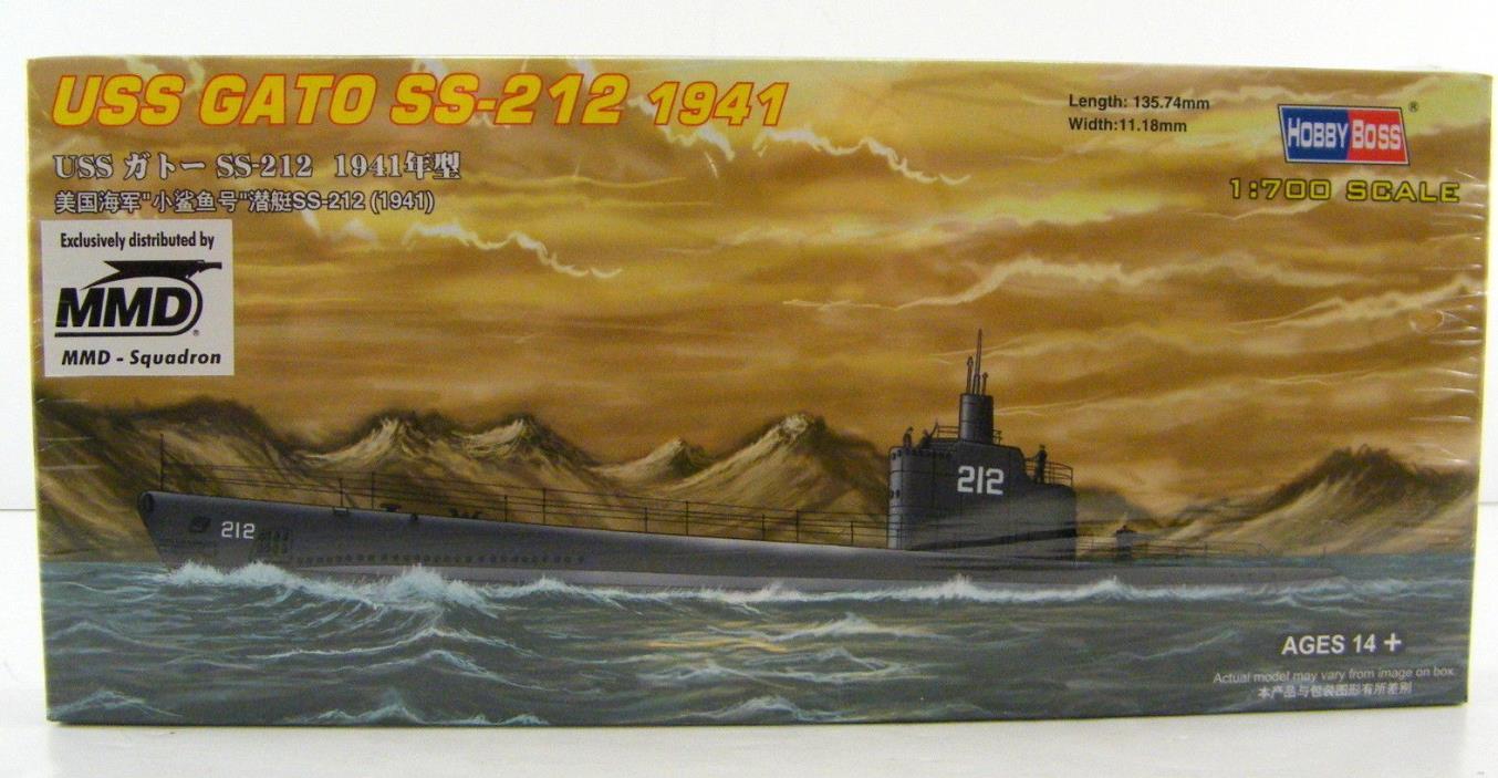 HobbyBoss 1/700 USS Gato SS-212 1941 Submarine # 87012 Model Kit