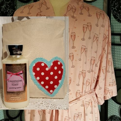 Gift Bundle, Bride, Valentine, Bath & Body Works, Spa Robe, Special Gift Tote