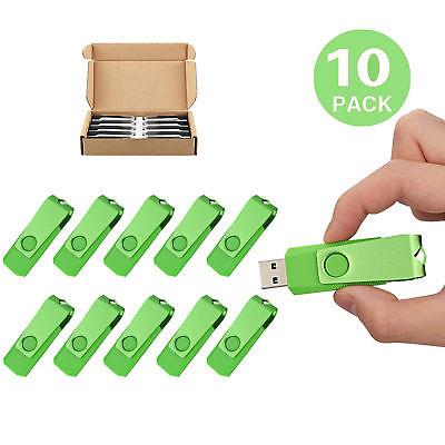10 Pack 4GB Rotating USB Flash Drives Flash Memory Stick Folding Thumb Pen Drive