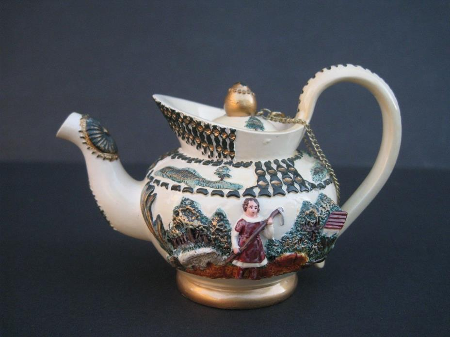 Nini Handpained Miniature Decorative Teapot Trinket Box w/Chain