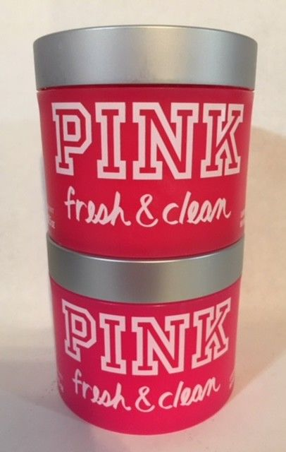 VICTORIA'S SECRET PINK FRESH & CLEAN LUMINOUS BODY BUTTER 10.5 OZ EACH X2 NEW
