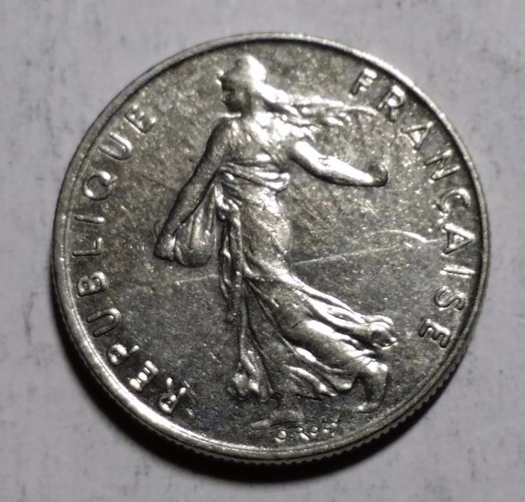 1984 1/2 Franc France Coin