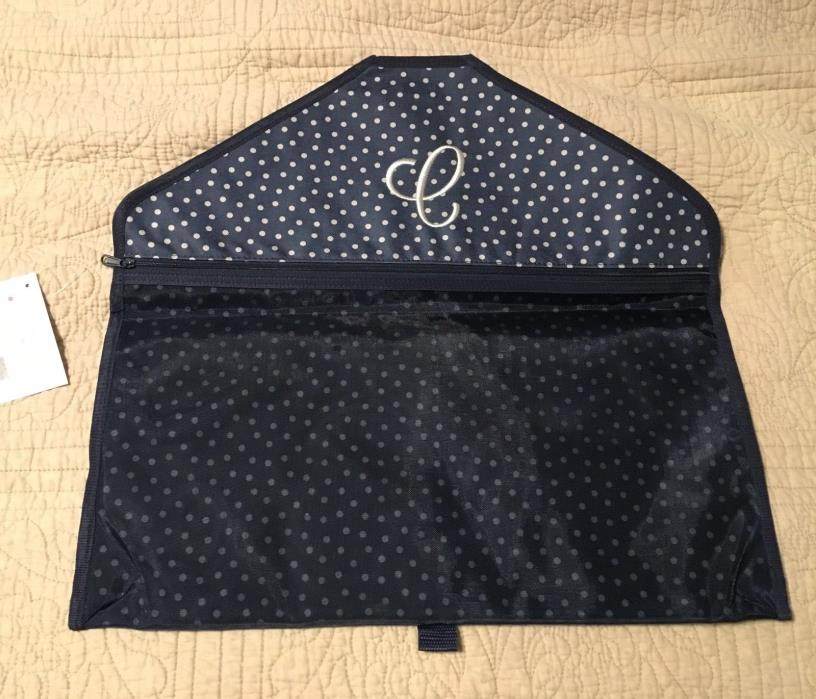 Thirty one hang it up pocket in navy dancing dot