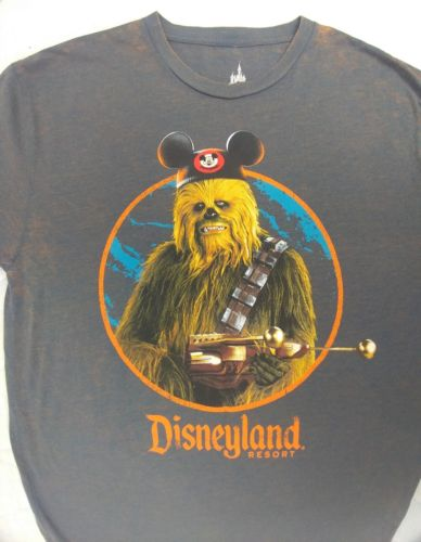 Chewbacca DISNEYLAND RESORT STARWARS Mickey Ears ADULT T-SHIRT Large NWT Rustic