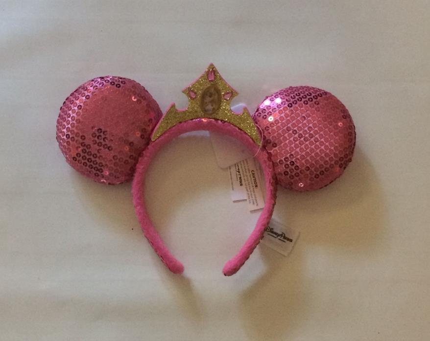 BNWT Disney Parks Sleeping Beauty Princess Aurora Mickey Ears Headband Pink