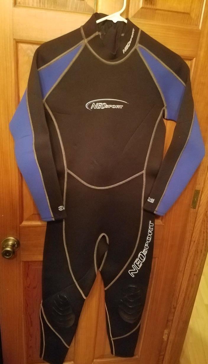 New NeoSport XSPAN 3/2mm Men's Jumpsuit Medium Black/Blue never worn