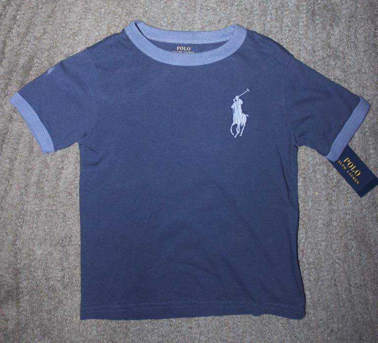 Polo Ralph Lauren Toddler Boys Navy T-Shirt (Big Pony) - Size 4T - NWT