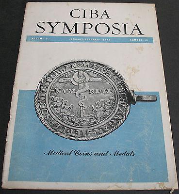 Antique - CIBA Symposia 1948 Medical Coins & Medals Scarce