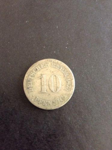1875 10 Pfennig German Empire Deutsche Reich