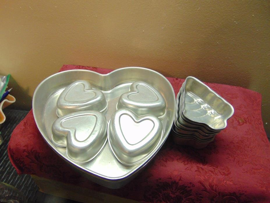 VINTAGE Hearts and Christmas Trees Cake Pans