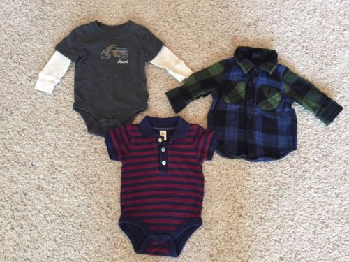 Set Of 3 Gap Boys Tops Sz 3-6 Month