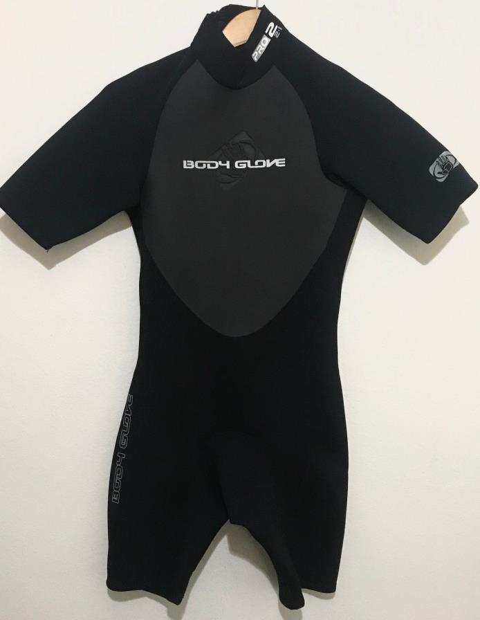 Body Glove Mens Spring Shorty Wetsuit Size Small S 2/1mm Pro 2