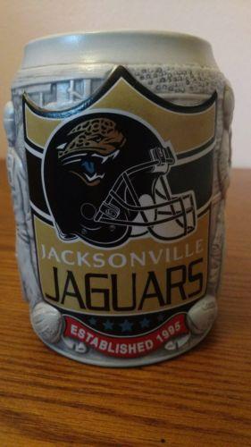 Nfl jacksonville jaguars football miller lite 3d stein mug 6
