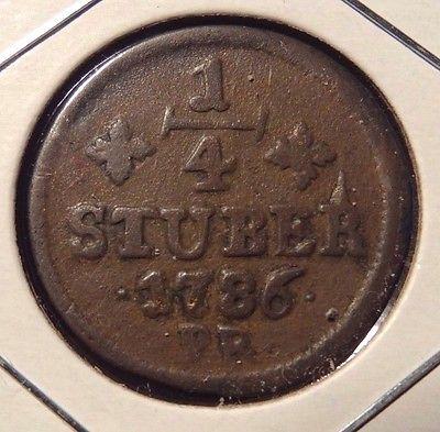 1786 Julichberg German State 1/4 Stuber - German Coin