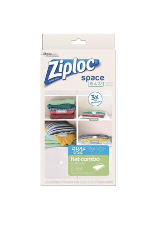 Ziploc 70423 Vacuum Seal Storage Bags 2 Medium 1 large **Airtight & Reuseable**