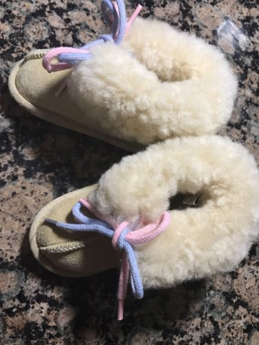 BABY FUR SHOES Australian Genuine SHEEPSKIN WOOL BOOTS BOOTIES toddler Sz M