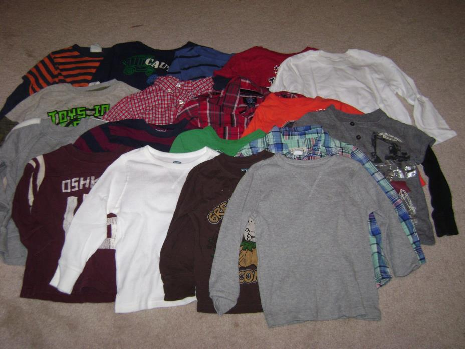 18 BOYS LONG SLEEVE SHIRTS SIZE 3T..***GOOD CONDITION***