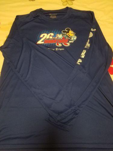 Run Disney WDW Marathon 2017 Race Tech Shirt Mens L