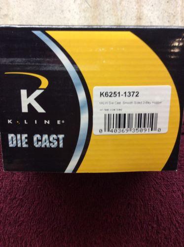 K Line K6251-1372 Milwaukee Die Cast Smooth Side Hopper 2 Bay w/coal #94542 New
