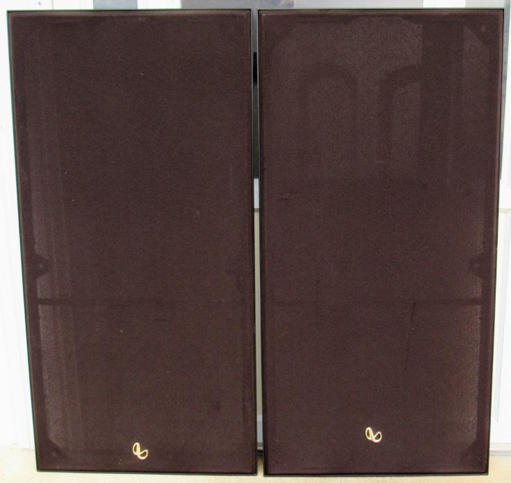 Pair Infinity ES-103 Original Stereo Speaker Grills Covers Parts Very Good Cond