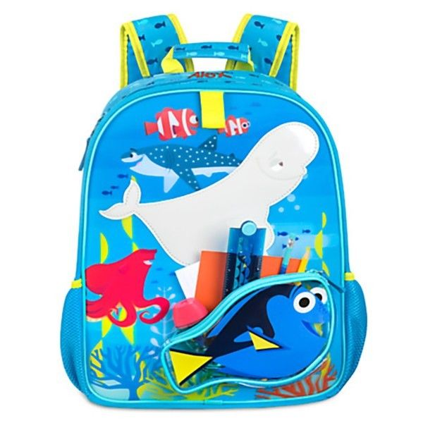 Girls FINDING DORY BACKPACK Child Book Lunch Bag Toy Disney Store Accessory 16