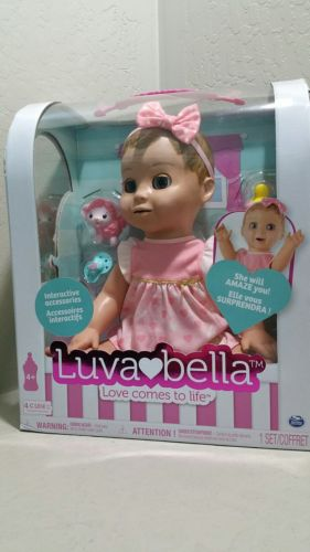 Luvabella Blonde Responsive Baby Doll Toy New  FAST FREE SHIPPING Girls Gift