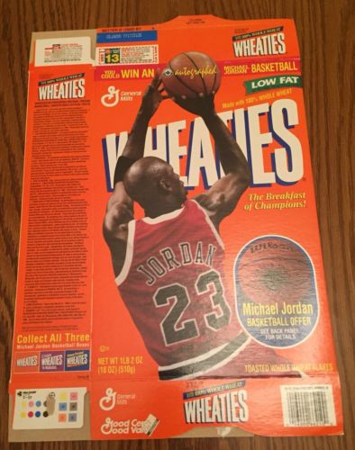 MICHAEL JORDAN 1995 WHEATIES CEREAL BOX