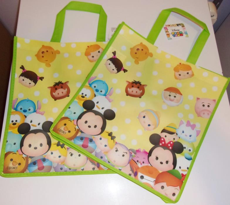 2 Pack Disney Tsum Tsum Tote Bags Reusable Eco 13