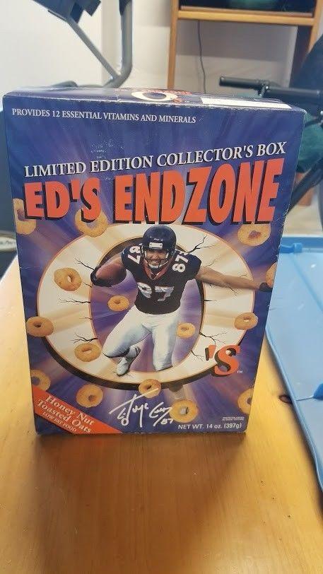Ed's End Zone O's Cereal - Ed McCaffrey - Unopened Box