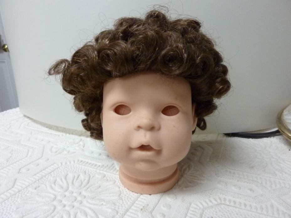 Doll wig brown curly no tag or box to fit doll with 10