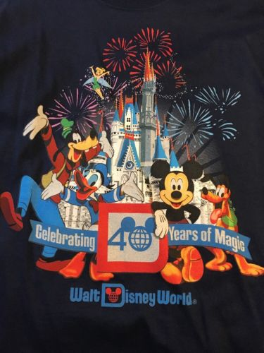 NEW Walt Disney World 40th Anniversary Shirt MEDIUM M Magic Kingdom WDW