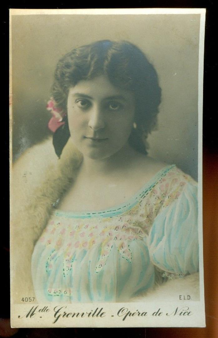 card looks like a Photograph-woman-Melle Grenville-Nice Opera