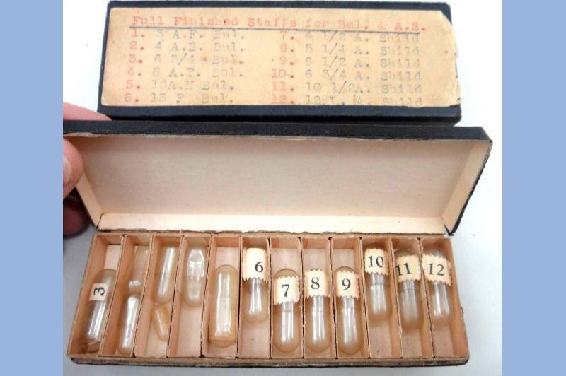 vintage WATCH REPAIR STAFFS BOX shild