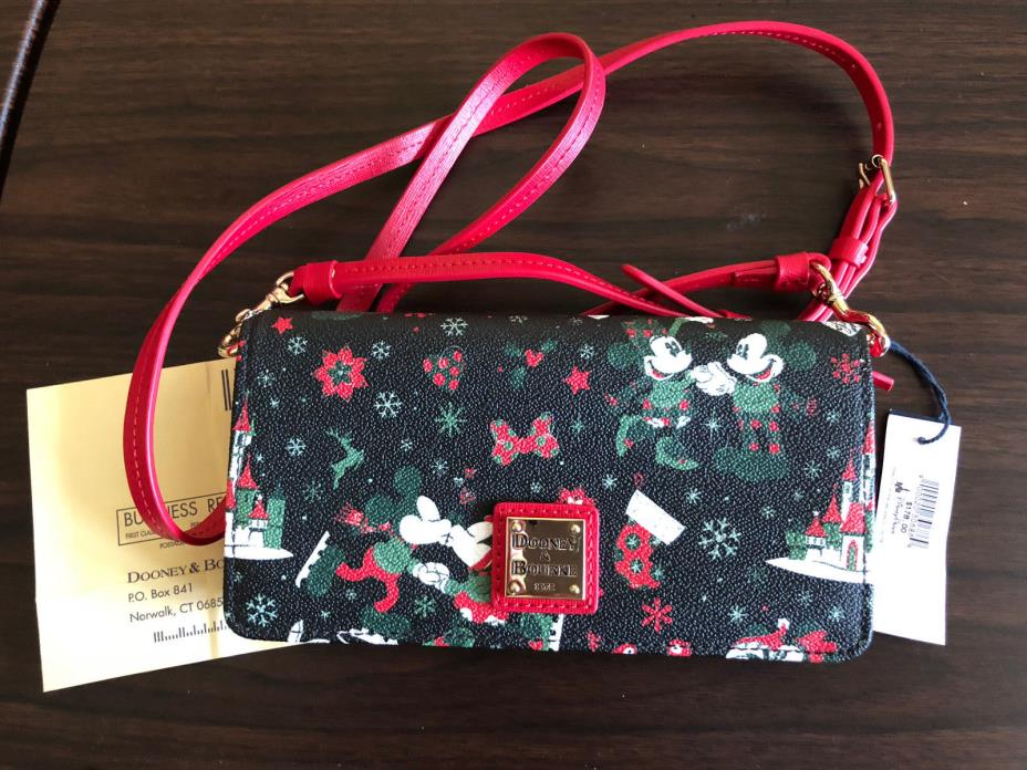 Disney Dooney & Bourke Winter Woodlands Christmas Crossbody Wallet NWT