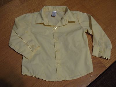 GEORGE, BOY'S Yellow Cotton Bl Long Sleeved Button Down Dress Shirt, Size 18 Mo