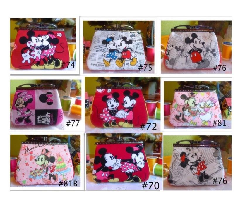Mickey&Minnie Mouse Handmade Coin Purse Bag