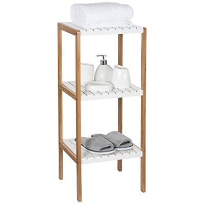 Ollieroo Bamboo Utility Shelves Bathroom Rack Plant Display Stand Shelving Unit