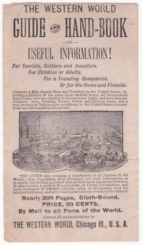 1885 Western World Publishing Co. Chicago, IL Illustrated Advertising Pamphlet