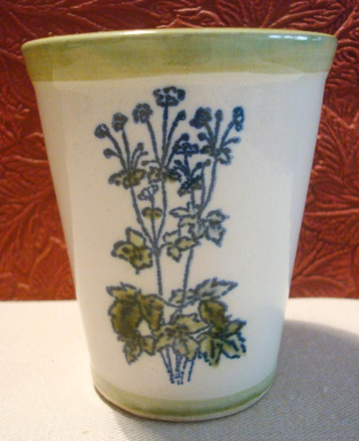 Louisville Stoneware Pottery Mint Julep Cup w/ Recipe Kentucky