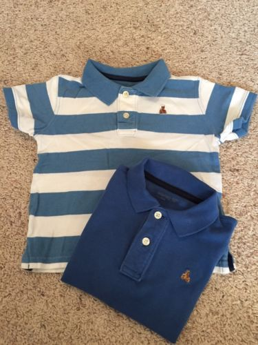 Set Of Two Gap Boy Size 3 Years Short Sleeve Polo Shirts