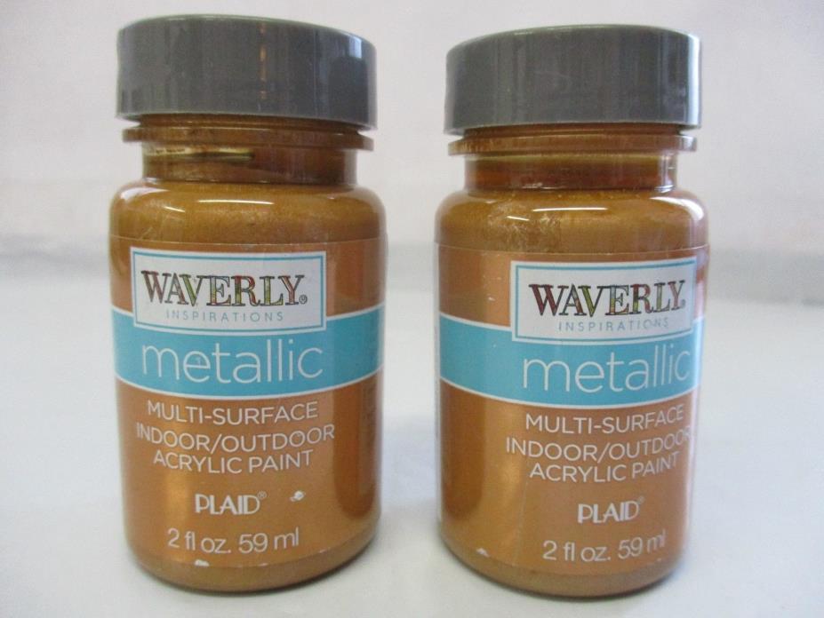 Waverly Inspirations Metallic Acrylic Paint Indoor/Outdoor Copper 2 oz.- 2 Pack