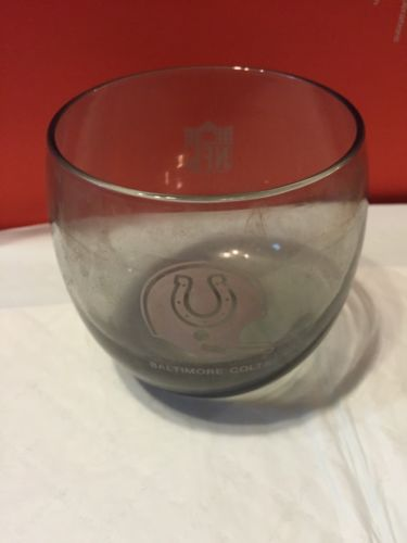 VTG BALTIMORE COLTS NFL SMOKE DRINKING GLASS COCKTAIL Shell Oil