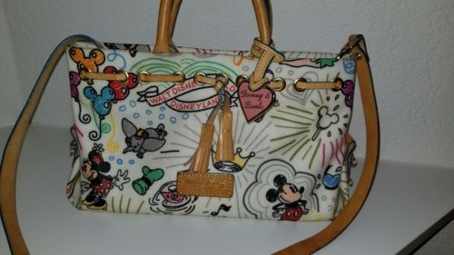 Disney World Parks Disneyland Dooney & Bourke Sketch Design Tassel Handbag