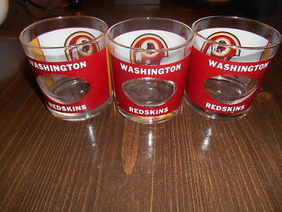WASHINGTON REDSKINS FOOTBALL HELMET by HOUZE 3  Vtg. 1970's  DRINK GLASS