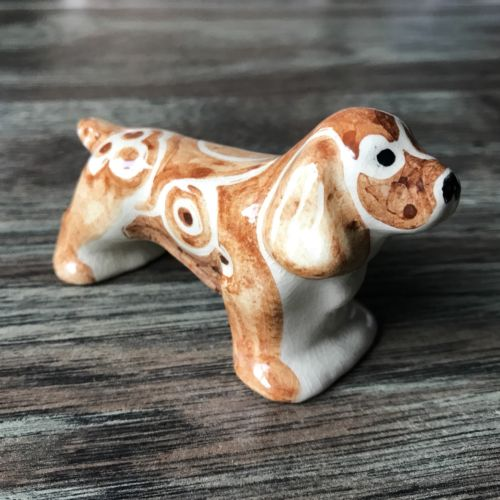 Shearwater Pottery Earthenware Red Spaniel Underglaze Figurine 2011 Mississippi