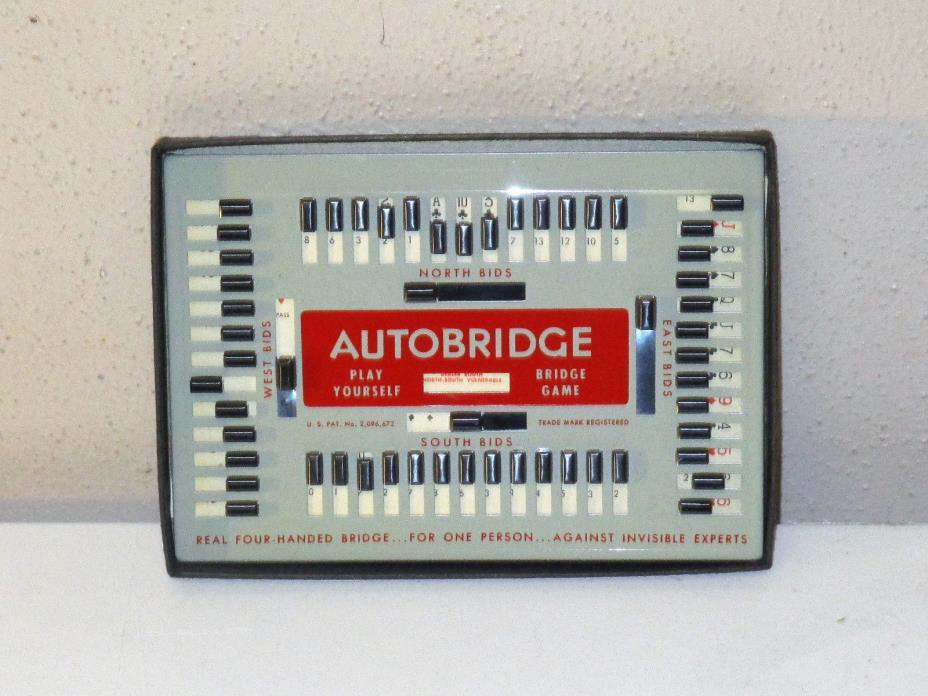 Vintage 1959 AUTOBRIDGE  --PLAY YOURSELF BRIDGE GAME--  Deluxe Pocket Model
