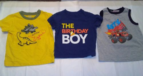 Lot of 3 Toddler Boy shirts Size 24 months in good condition.