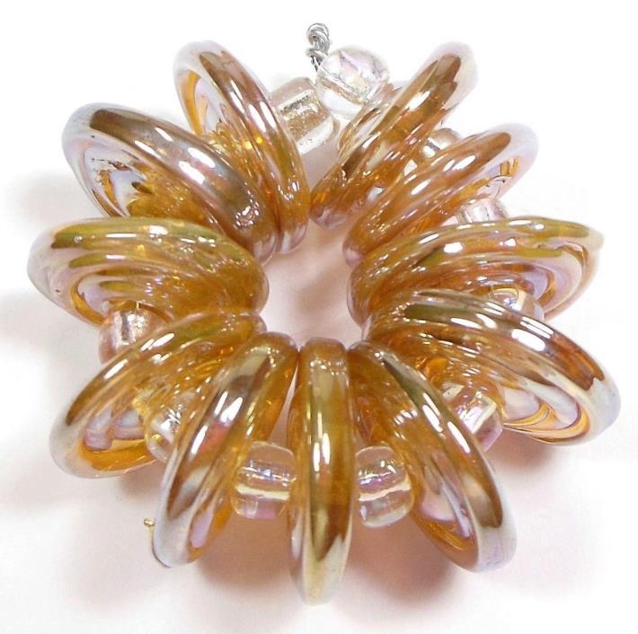 Quinlan Glass Glamorous Handmade Lampwork Glass Beads SRA